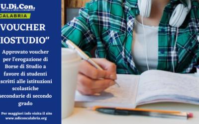 """VOUCHER """"IOSTUDIO"""" CONCESSIONE BORSE DI STUDIO STUDENTI CALABRESI"""