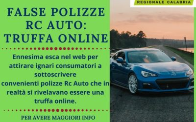 FALSE POLIZZE RC AUTO: TRUFFA ONLINE