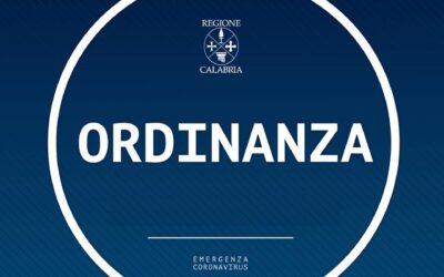 Calabria, la Regione firma l'ordinanza