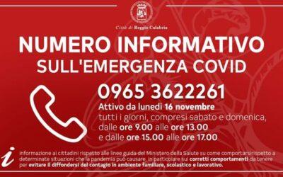 Il Comune di Reggio Calabria attiva un numero informativo sull'emergenza Covid-19