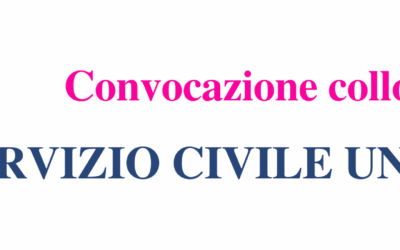 Convocazione colloquio – Bando Servizio Civile 2020