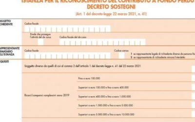Decreto Sostegni, contributi a fondo perduto 2021